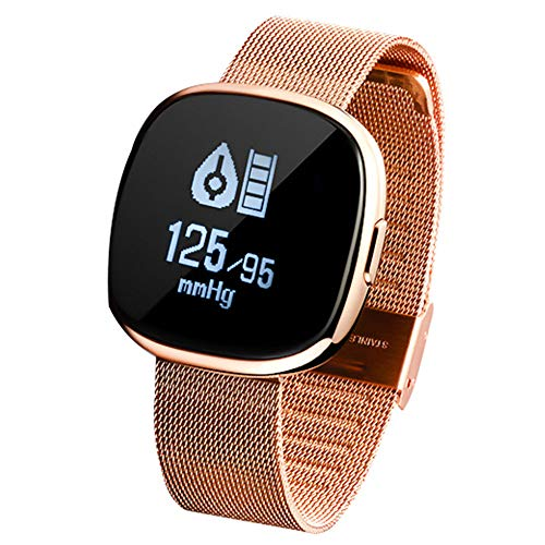Smart Watch (Bluetooth), Star 51 Digital Sports Smart Watch- Stilvolles Design- Fitness Tracker mit iOS Android, Pulsmesser, Wasserdichte Schrittzähler Uhr mit Schlaf Monitor