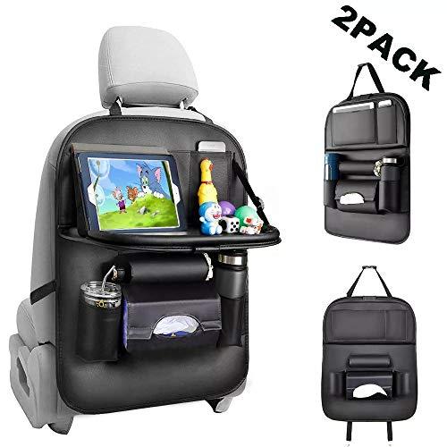 STYLINGCAR Organizer Auto Rückenlehnenschutz Multifunktionale Auto Aufbewahrungstasche für Kinder Reise Tägliche Gebrauch (2 Stück)