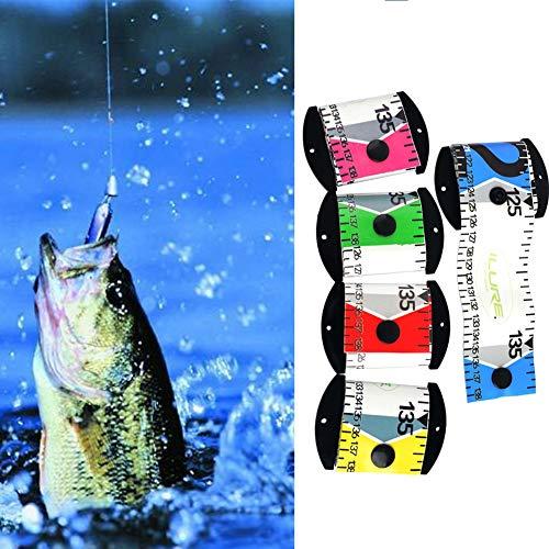 Yalatan Wasserdichte Fisch Messlineal, 138 cm X 5 cm Genaue Fisch Messband PVC Angeln Lineal Messgerät Werkzeug für Erwachsene