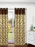 Ariana Linex Flower Brown Eyelet Door Curtain