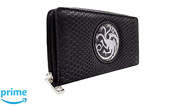 House Targaryen Game of Thrones Fire and Blood Coin and Card Clutch Purse Black