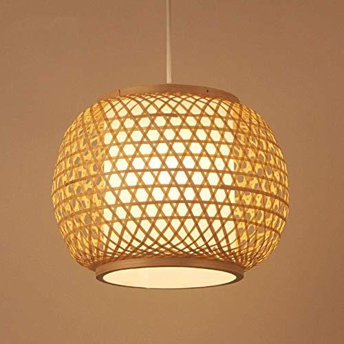 MUMUMI Lámpara de bambú Zen Chino E27 Lámpara de Techo Lámpara de ratán Hecha a Mano Adecuado for Comedor Café Sala de Estar Decoración de Dormitorio Lámpara de araña