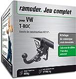 Rameder Attelage rotule démontable pour VW T-ROC + Faisceau 7 Broches...