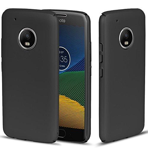 CoolGadget Schwarz Matte Motorola/Lenovo Moto C Plus PC Hülle, Ultra-Slim (0,5mm Dicke), Perfekter Schutz vor Staub und Schmutz, Moto C Plus Basic Cover