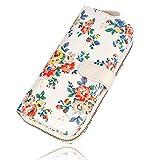 Damen Geldbörse Portemonnaie Geldbeutel Brieftasche Blumen mit Reißverschluss-Tasche