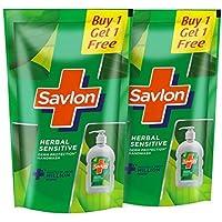 Savlon Herbal Sensitive pH balanced Liquid Handwash Refill Pouch, 750ml+750ml (Pack of 2)