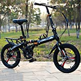 """Outdoor Travel Mountain Folding Bicycle, 20"""" Rack and Fenders, 28lb Lightweight Aluminum Frame"""