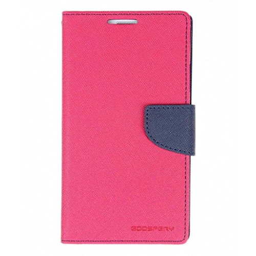 Samsung Galaxy Core GT I8262 Mercury Flip Wallet Diary Card Case Cover (Pink/Blue) By Mobile Life  available at amazon for Rs.189