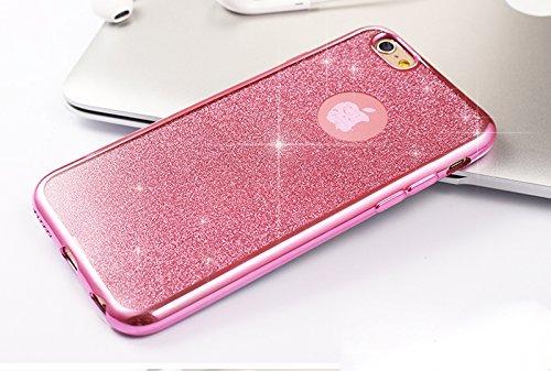 Coque iPhone 6 Plus,Coque iPhone 6S Plus,Coque Étui Case pour iPhone 6S / 6 Plus,ikasus® Coque iPhone 6S / 6 Plus Silicone Étui Housse Téléphone Couverture TPU Clair éclat Strass bling diamond cristal Rose