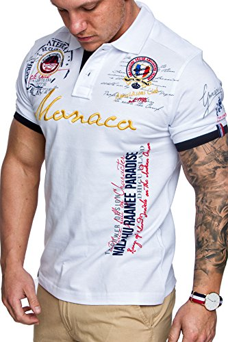 Amaci&Sons Herren Polo Shirt Monaco Weiß M