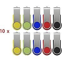 FEBNISCTE 100 pezzi 512MB(NON 512GB) girevole USB 2,0 Multicolorato Girevole