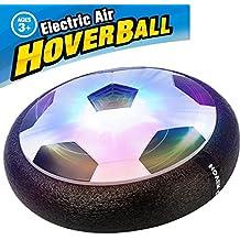 Air Hover Ball - Betheaces Juguete Balón de Fútbol Flotante, Pelota con Suspensión de Aire y Luces LED para Jugar Fútbol en Casa sin Riesgo a Romper Nada