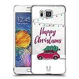 Head Case Designs Rotes Auto Fröhliche Weihnachtsbäume Ruckseite Hülle für Samsung Galaxy Alpha