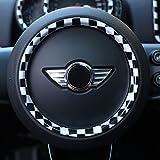Tachimetro Display centrale Volante Coperchio del coperchio dello sfiato dell'aria Custodia per Mini Cooper ONE S JCW Serie F Clubman Countryman Hardtop Hatchback (Volante F60 Countryman, a scacchi)