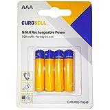 Eurosell Highend Wiederaufladbare Batterie Ersatzakku Akku AAA Schnurlostelefon passend für Telefon Gigaset C300 C430 DUO TRIO