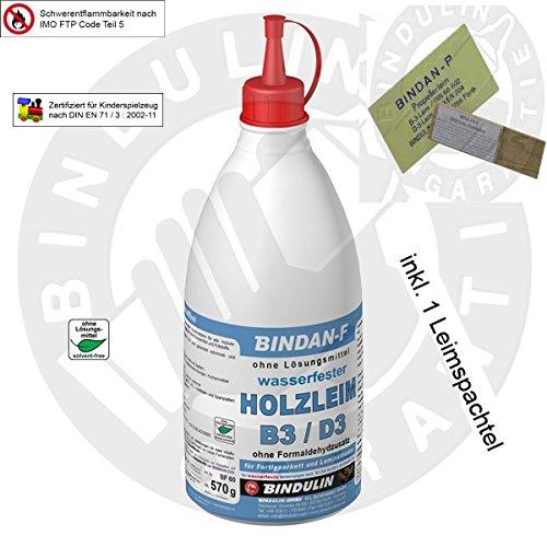 Preisvergleich Produktbild Bindan-F Holzleim B3/D3 inklusive 1 Leimspachtel (570 gr)