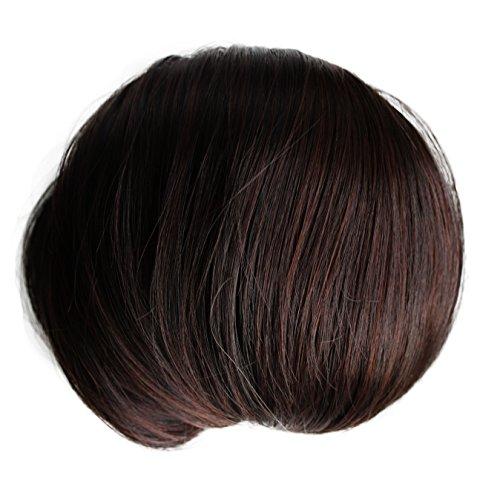 PRETTYSHOP Dutt Haarteil Zopf Haarknoten Hepburn-Dutt Haargummi Hochsteckfrisuren dunkelbraun mix 2/33 HD5
