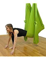 Aerial Yoga Hammock Set Anti-Schwerkraft Yoga Swing Aerial Silks Equipment elastische Yoga Hängematte Keine Nähte Aerial Silk Yoga Set 10 Meter