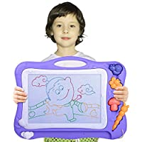 Automoness Magnetic Drawing Board for Kids, Erasable Colorful Scribble Board Writing Pad with 2 Stamps and 1 Pen for Children Toddlers