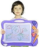 Pizarra Magnética Infantil,Automoness Almohadilla Borrable de Escritura y Dibujo con 2 Sellos y 1 Plumas,Juguetes Educativos para Niños