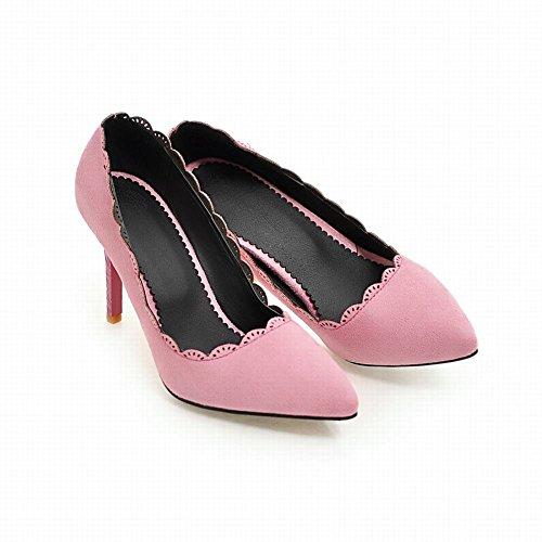 Nobuck De Couro Rosa Borte Sapatos Bombas Senhoras Stiletto Mee 4ZwaYqI4