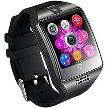 TKSTAR Reloj Inteligente,Pulsera Inteligente Mujer,Reloj Smartwatch Hombre,Smart Watch Teléfono Bluetooth Cámara Tarjeta SIM TF Smartwatch para Android Samsung LG Google Píxel y iPhone 7 7Plus 6 6s 6s Plus JU-Q18 (Negro)