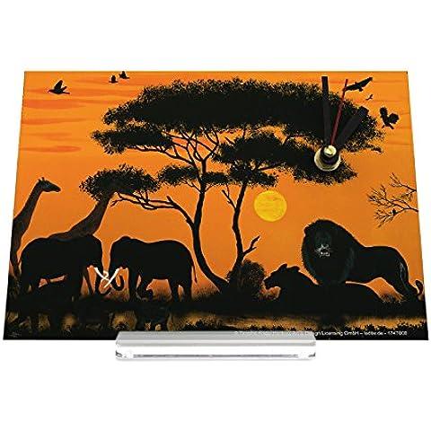 Reloj de escritorio Agencia De Viajes Vacaciones África León Jirafa Elefante