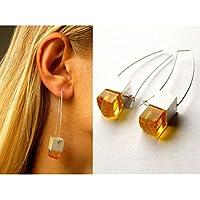 Ohrringe, Bernsteinohrringe, Silber, amber earrings, NEU - Unikat - Designerstück