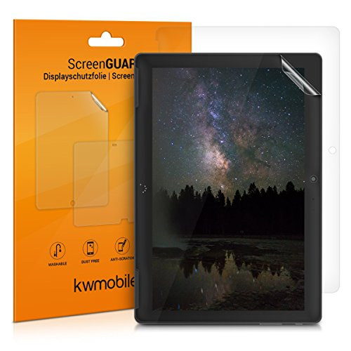 kwmobile 2x Folie kompatibel mit bq Aquaris M10 - Full Screen Tablet Schutzfolie klar