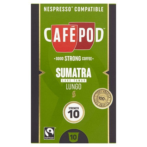Get CafePod Sumatra Pack Of 10 Nespresso Compatible Coffee Capsules from CafePod