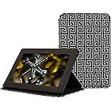 Jonathan Adler Hülle für Kindle Fire HDX (3. Generation - 2013 Modell), Black Greek Key