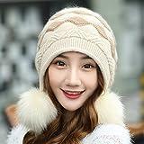 HOMEE Cappello-Donne inverno e cappelli di autunno Moda Cappello caldo cappello di cappello di cachemire,Riso integrale
