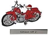 Simson SR 2 Rot Braun DDR Atlas Collection 1/24 Modellcarsonline Modell Motorrad mit individiuellem...