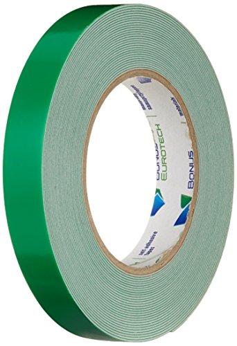 BONUS Eurotech 2BF42.10.0019/010A# Doppelseitiges Schaumstoffklebeband, Acrylklebstoff, Geschlossenzelliger Polyethylen, Länge 10 m x Breite 19 mm x Gesamtdicke 0,8 mm, Weiß -
