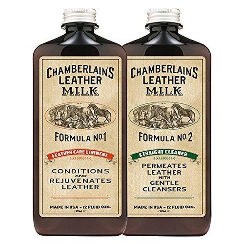 Chamberlain's Leather Milk Set de acondicionador y limpiador de cuero naturales -...