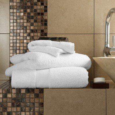 Ägyptische Baumwolle 700GSM Extra Soft Top Qualität Luxus Miami 6-teiliges Handtücher-Set, weiß
