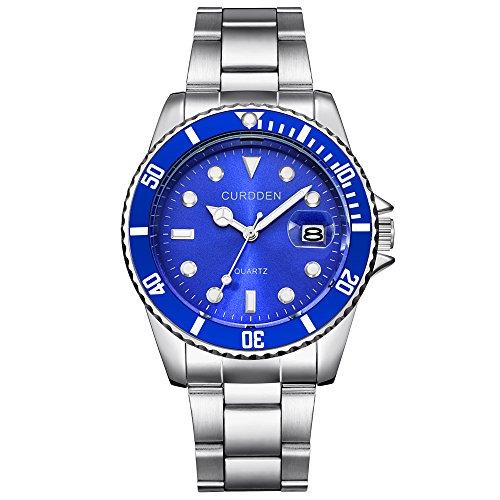 Uhren Herren Armbanduhr Militär Edelstahl Datum Sport Quarz Analog Armbanduhr Persönlichkeits Armbanduhr Einfache Analoge Einzigartige Wrist Uhr Delicate Watch,ABsoar