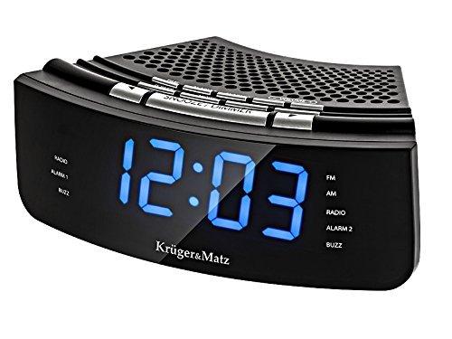 Krüger&Matz KM0813 Radiowecker Uhrenradio Wecker Uhr LED Display UKW FM AM Helligkeitsregler Snooze