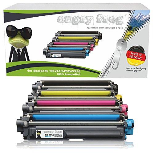 4er Pack AngryFrog® XL Toner passend für Brother TN-242 TN-246 HL-3142 CW HL-3152 HL-3172 DCP-9017 CDW DCP-9022 MFC-9142 CDN MFC-9332 MFC-9342 black je 2500 Seiten,Color je 2200 Seiten