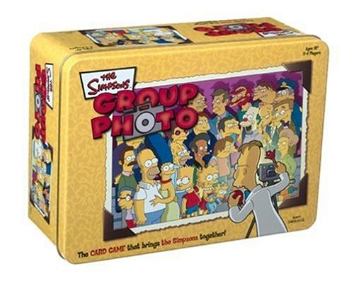 Click for larger image of Group Photo: The Simpsons in a Tin Game