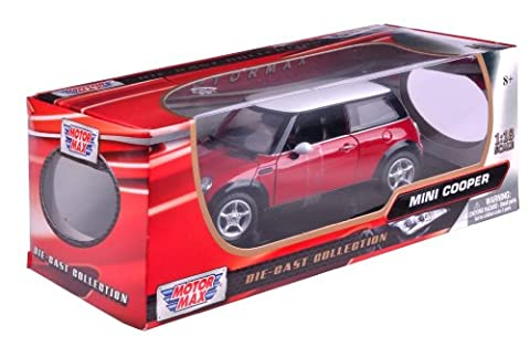 Richmond Toys 1:18 Mini Cooper Die-Cast Collectors Model Car (Red)