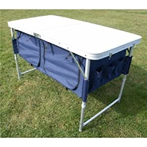 Folding Camping Table / Picnic Table with Extra storage underneath