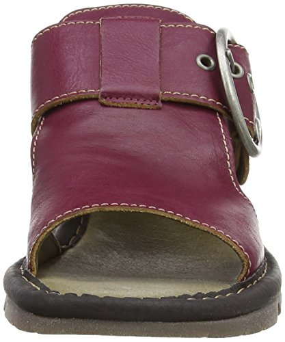 FLY London TUTE Damen Durchgängies Plateau Sandalen Purple (Magenta (Black))