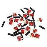 ROSENICE 10 Paar Ultra T-Steckverbinder mit 20Stk Schrumpfschlauch für RC LiPo Akku