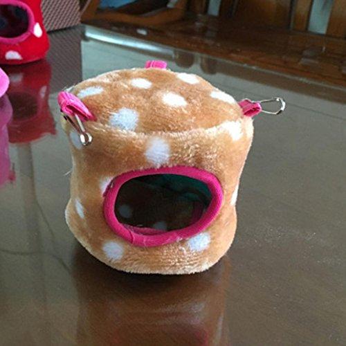 Winter Warm Pet Hamster Eichhörnchen House Bett klein Samt Polka Dot Baumwolle Nest (Polka Kleine Dot)
