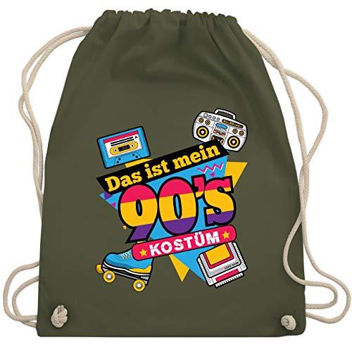 Karneval & Fasching - Das ist mein 90er Jahre Kostüm - Unisize - Olivgrün - WM110 - Turnbeutel & Gym Bag