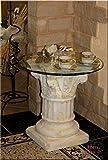 Griechischer Beistelltisch Antik Säule Telefontisch Blumentisch Kaffetisch Glastisch Tisch