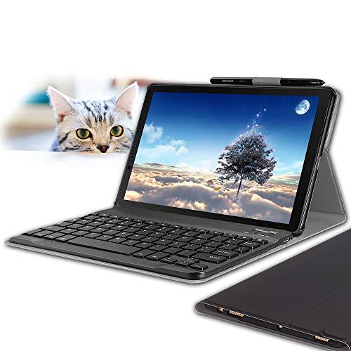 "Wineecy Tastiera Custodia Galaxy Tab S4 10.5 (QWERTY Layout), Slim Custodia con Rimovibile Wireless Tastiera per Samsung Galaxy Tab S4 10.5"" SM-T830N/T835N 2018 (Galaxy Tab S4 10.5 2018, Black)"