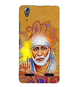 Om Sri Sai Akhileshwaraaya 3D Hard Polycarbonate Designer Back Case Cover for Lenovo A6000 Plus