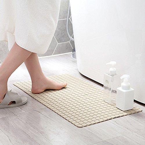 Badezimmer Anti-Rutsch-Teppich Hohe Qualität PVC Quadrat Badematte Eingang Flur Abdichtung Teppich, 69cm * 39cm (Design : EIN) (Teppich Abdichtung)